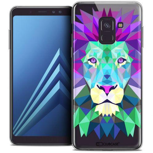 """Coque Crystal Gel Samsung Galaxy A8+ (2018) A730 (6.0"""") Extra Fine Polygon Animals - Lion"""