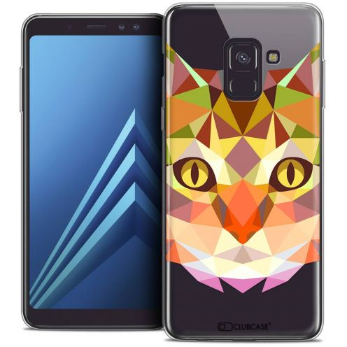 "Coque Crystal Gel Samsung Galaxy A8+ (2018) A730 (6.0"") Extra Fine Polygon Animals - Chat"