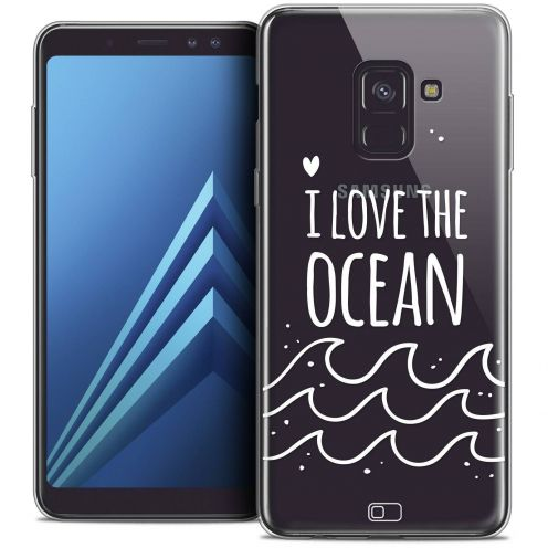 "Carcasa Crystal Gel Extra Fina Samsung Galaxy A8+ (2018) A730 (6.0"") Summer I Love Ocean"