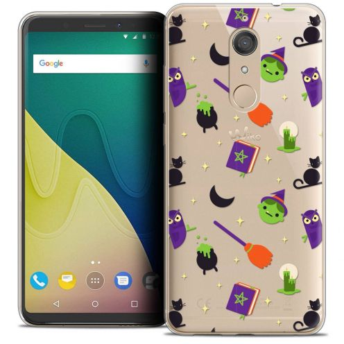 """Coque Crystal Gel Wiko View XL (5.99"""") Extra Fine Halloween - Witch Potter"""