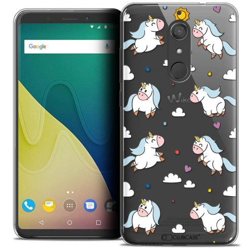 """Coque Crystal Gel Wiko View XL (5.99"""") Extra Fine Fantasia - Licorne In the Sky"""