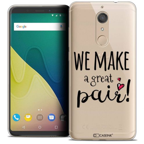 """Coque Crystal Gel Wiko View XL (5.99"""") Extra Fine Love - We Make Great Pair"""
