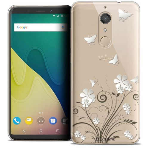 """Coque Crystal Gel Wiko View XL (5.99"""") Extra Fine Summer - Papillons"""