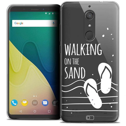 "Carcasa Crystal Gel Extra Fina Wiko View XL (5.99"") Summer Walking on the Sand"