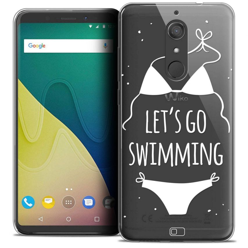 "Coque Crystal Gel Wiko View XL (5.99"") Extra Fine Summer - Let's Go Swim"