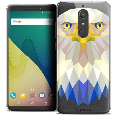 "Carcasa Crystal Gel Extra Fina Wiko View XL (5.99"") Polygon Animals Águila"