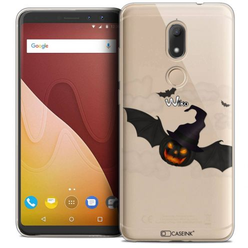 "Carcasa Crystal Gel Extra Fina Wiko View PRIME (5.7"") Halloween Chauve Citrouille"