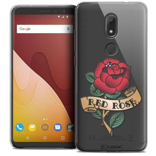 """Coque Crystal Gel Wiko View PRIME (5.7"""") Extra Fine Tatoo Lover - Red Rose"""