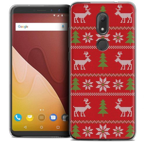 """Coque Crystal Gel Wiko View PRIME (5.7"""") Extra Fine Noël 2017 - Couture Rouge"""