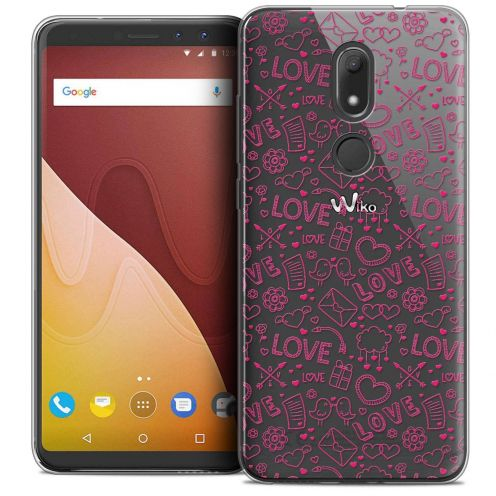 """Coque Crystal Gel Wiko View PRIME (5.7"""") Extra Fine Love - Doodle"""