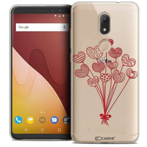 """Coque Crystal Gel Wiko View PRIME (5.7"""") Extra Fine Love - Ballons d'amour"""