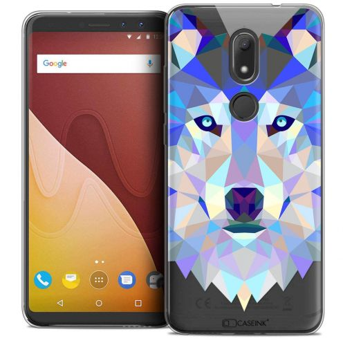 """Coque Crystal Gel Wiko View PRIME (5.7"""") Extra Fine Polygon Animals - Loup"""