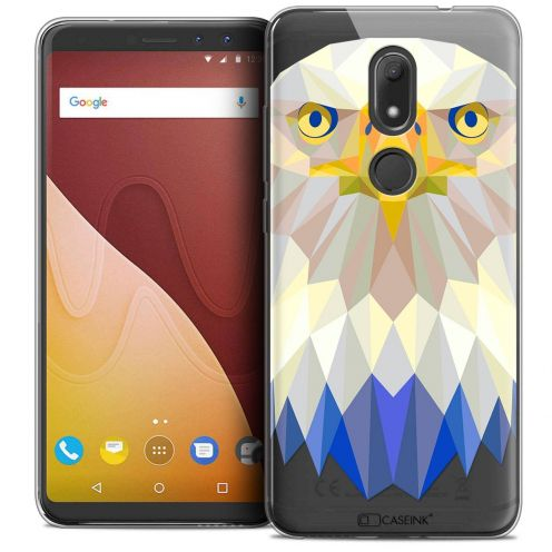 "Carcasa Crystal Gel Extra Fina Wiko View PRIME (5.7"") Polygon Animals Águila"
