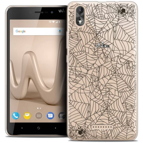 """Coque Crystal Gel Wiko Lenny 4 PLUS (5.5"""") Extra Fine Halloween - Spooky Spider"""