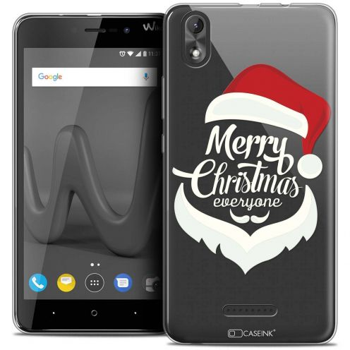 """Coque Crystal Gel Wiko Lenny 4 PLUS (5.5"""") Extra Fine Noël 2017 - Merry Everyone"""