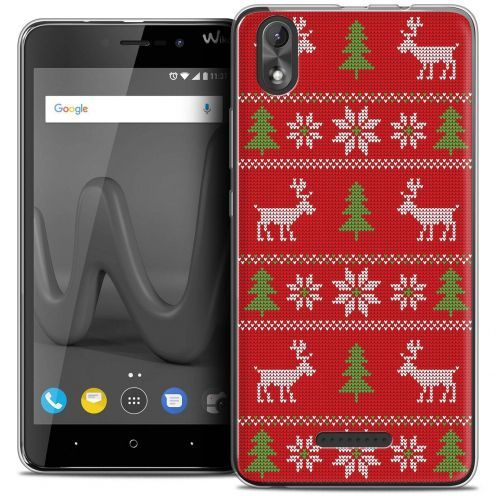 "Carcasa Crystal Gel Extra Fina Wiko Lenny 4 PLUS (5.5"") Noël 2017 Couture Rouge"
