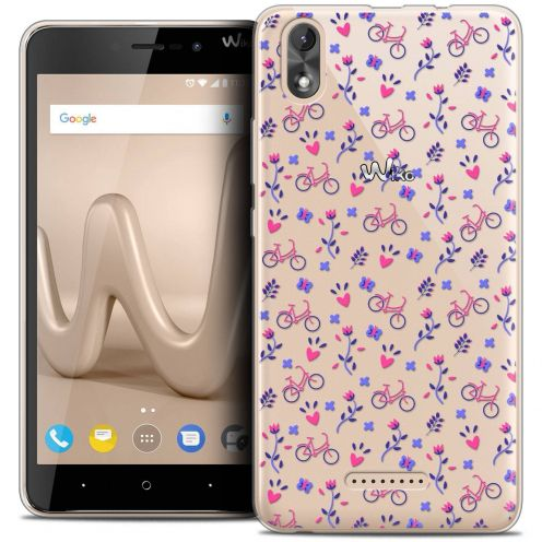 """Coque Crystal Gel Wiko Lenny 4 PLUS (5.5"""") Extra Fine Love - Bicycle"""