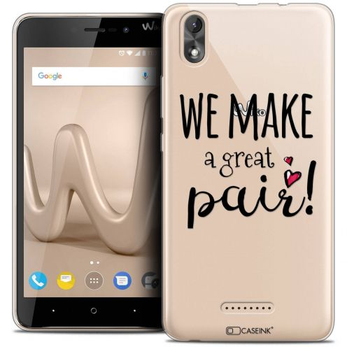 "Carcasa Crystal Gel Extra Fina Wiko Lenny 4 PLUS (5.5"") Love We Make Great Pair"