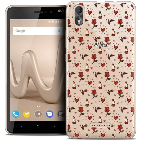 """Carcasa Crystal Gel Extra Fina Wiko Lenny 4 PLUS (5.5"""") Love Bougies et Roses"""