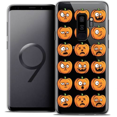 "Coque Crystal Gel Samsung Galaxy S9+ (6.2"") Extra Fine Halloween - Cartoon Citrouille"
