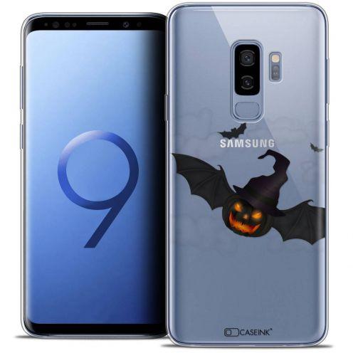 "Coque Crystal Gel Samsung Galaxy S9+ (6.2"") Extra Fine Halloween - Chauve Citrouille"