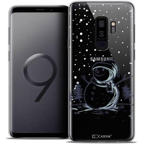 "Coque Crystal Gel Samsung Galaxy S9+ (6.2"") Extra Fine Noël 2017 - Bonhomme de Neige"