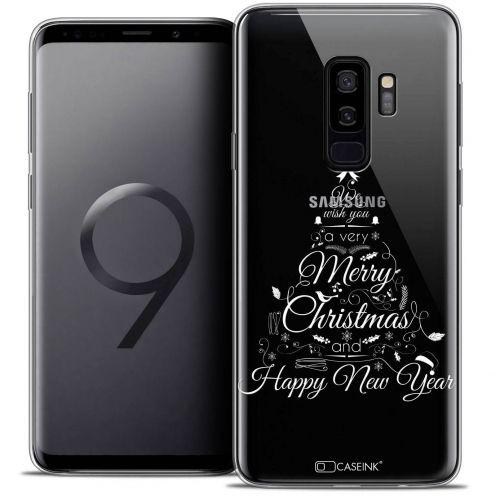 "Carcasa Crystal Gel Extra Fina Samsung Galaxy S9+ (6.2"") Noël 2017 Calligraphie"