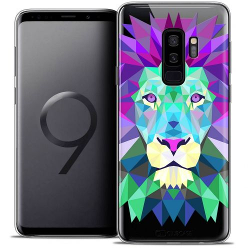 "Coque Crystal Gel Samsung Galaxy S9+ (6.2"") Extra Fine Polygon Animals - Lion"