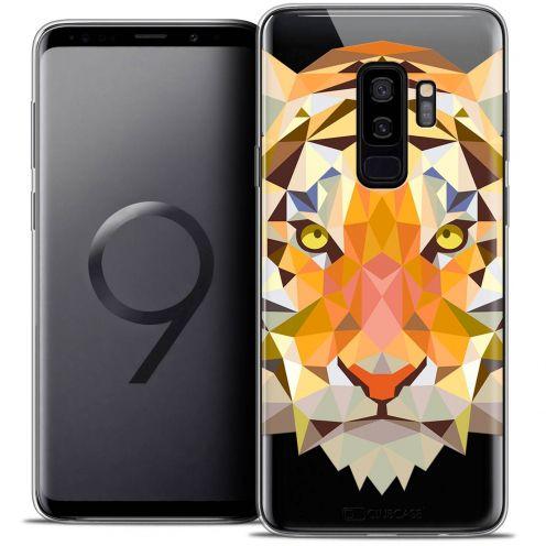 """Coque Crystal Gel Samsung Galaxy S9+ (6.2"""") Extra Fine Polygon Animals - Tigre"""