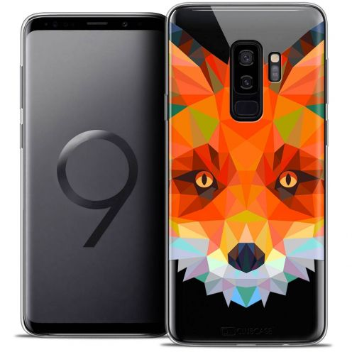 "Coque Crystal Gel Samsung Galaxy S9+ (6.2"") Extra Fine Polygon Animals - Renard"