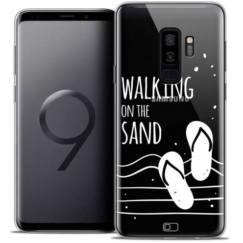 "Coque Crystal Gel Samsung Galaxy S9+ (6.2"") Extra Fine Summer - Walking on the Sand"