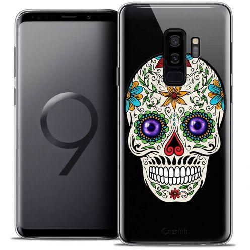 "Coque Crystal Gel Samsung Galaxy S9+ (6.2"") Extra Fine Skull - Maria's Flower"
