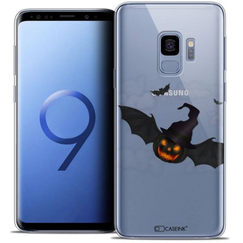 "Carcasa Crystal Gel Extra Fina Samsung Galaxy S9 (5.8"") Halloween Chauve Citrouille"