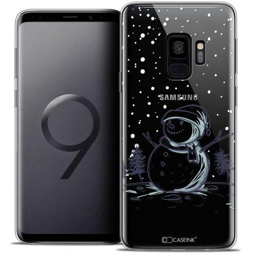 "Coque Crystal Gel Samsung Galaxy S9 (5.8"") Extra Fine Noël 2017 - Bonhomme de Neige"