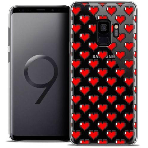 "Carcasa Crystal Gel Extra Fina Samsung Galaxy S9 (5.8"") Love Pixel Art"