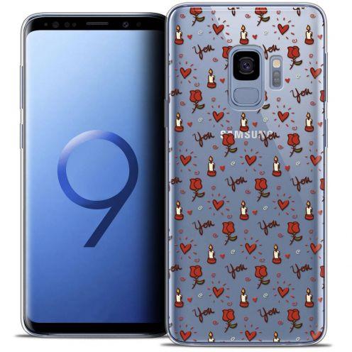 "Carcasa Crystal Gel Extra Fina Samsung Galaxy S9 (5.8"") Love Bougies et Roses"