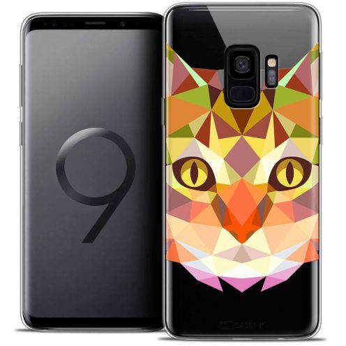 "Coque Crystal Gel Samsung Galaxy S9 (5.8"") Extra Fine Polygon Animals - Chat"