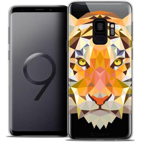 """Coque Crystal Gel Samsung Galaxy S9 (5.8"""") Extra Fine Polygon Animals - Tigre"""