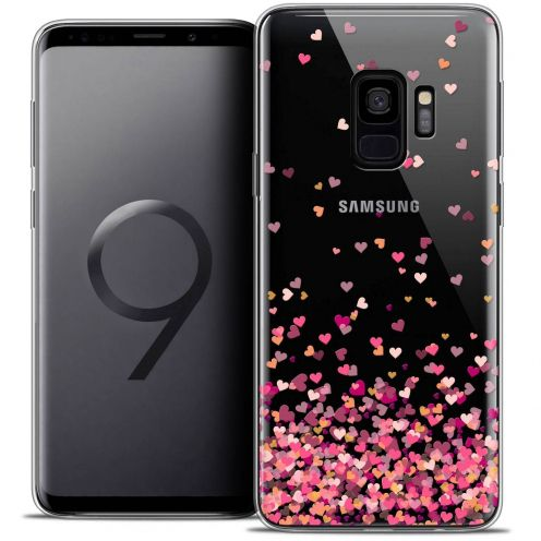 "Coque Crystal Gel Samsung Galaxy S9 (5.8"") Extra Fine Sweetie - Heart Flakes"