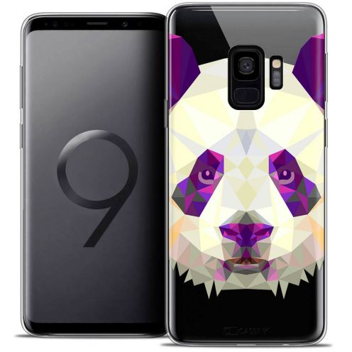"Coque Crystal Gel Samsung Galaxy S9 (5.8"") Extra Fine Polygon Animals - Panda"
