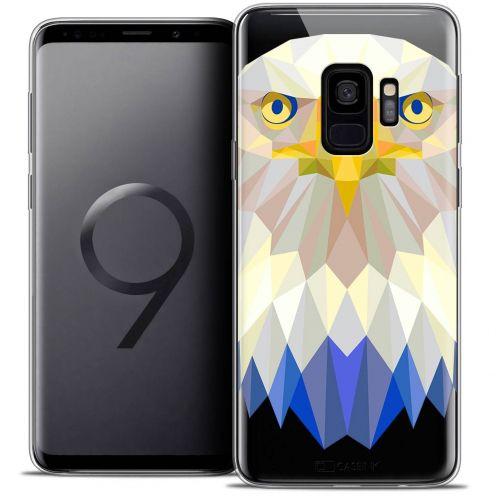 "Carcasa Crystal Gel Extra Fina Samsung Galaxy S9 (5.8"") Polygon Animals Águila"