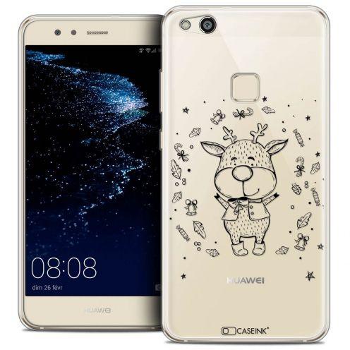 """Carcasa Crystal Gel Extra Fina Huawei P10 LITE (5.2"""") Noël 2017 Sketchy Cerf"""