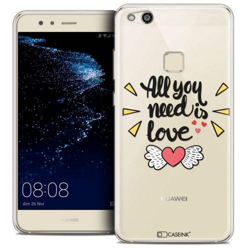 "Coque Crystal Gel Huawei P10 LITE (5.2"") Extra Fine Love - All U Need Is"
