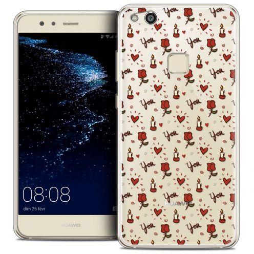"Carcasa Crystal Gel Extra Fina Huawei P10 LITE (5.2"") Love Bougies et Roses"