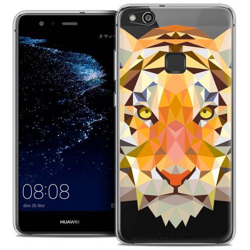 "Coque Crystal Gel Huawei P10 LITE (5.2"") Extra Fine Polygon Animals - Tigre"