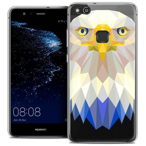 "Carcasa Crystal Gel Extra Fina Huawei P10 LITE (5.2"") Polygon Animals Águila"