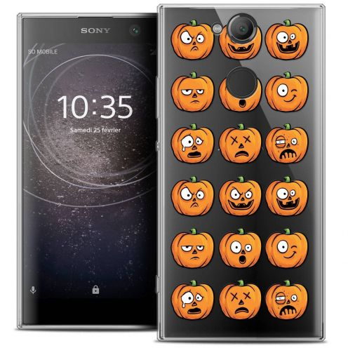 "Carcasa Crystal Gel Extra Fina Sony Xperia XA2 (5.2"") Halloween Cartoon Citrouille"