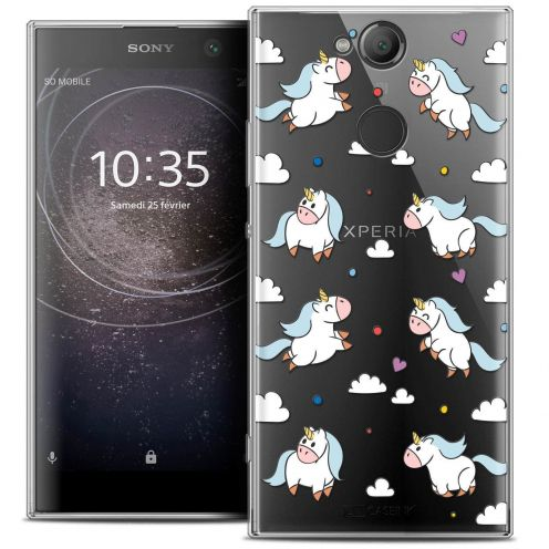 "Coque Crystal Gel Sony Xperia XA2 (5.2"") Extra Fine Fantasia - Licorne In the Sky"