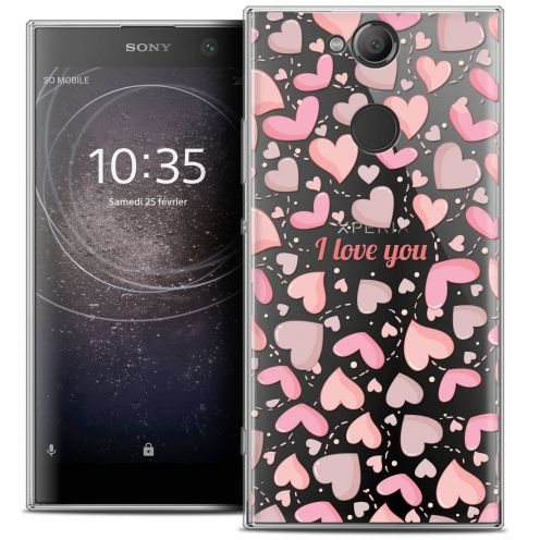 "Carcasa Crystal Gel Extra Fina Sony Xperia XA2 (5.2"") Love I Love You"
