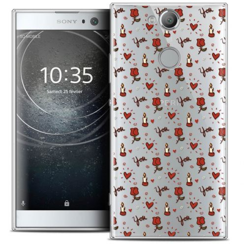 "Coque Crystal Gel Sony Xperia XA2 (5.2"") Extra Fine Love - Bougies et Roses"